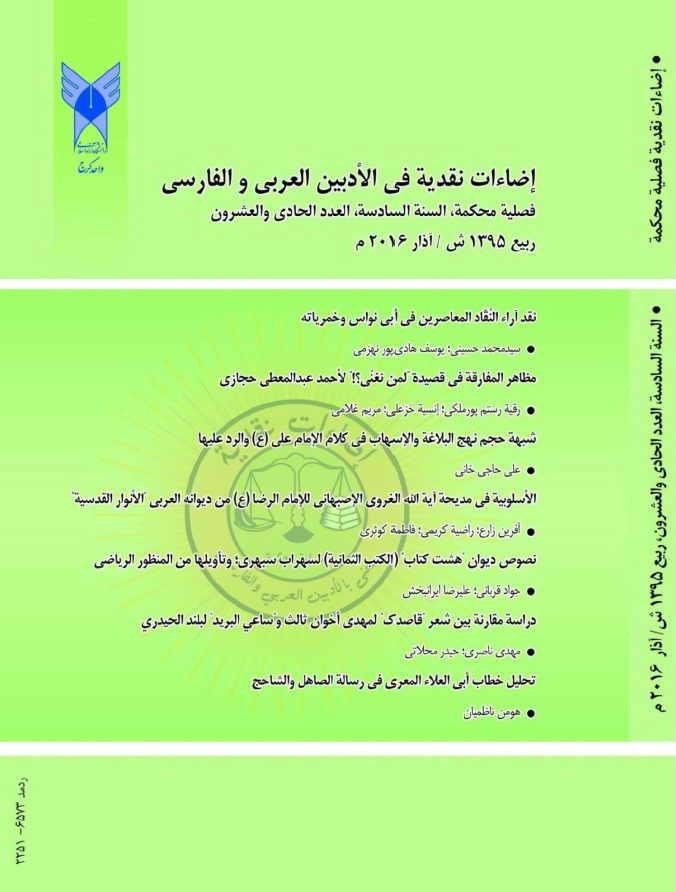 مجلة إضاءات نقدية (تُعنى بالأدبين العربي و الفارسي) - أعداد السنة السادسة