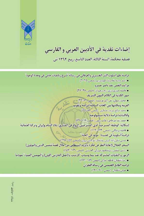 مجلة إضاءات نقدية (تُعنى بالأدبين العربي و الفارسي) - أعداد السنة الثالثة